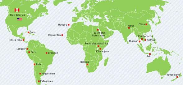 Fernreisen in alle Welt